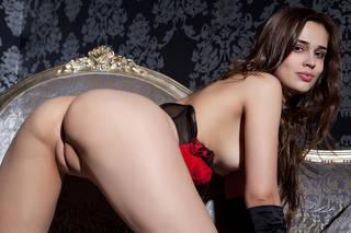 Menina sexy com corpo erótico.
